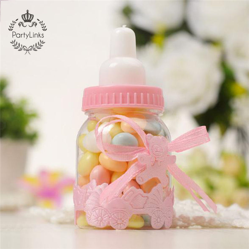 Small Bottle Plastic Box Creative Candy Box Baby Shower Baby Full Moon Favor Gift Wedding Candy Box