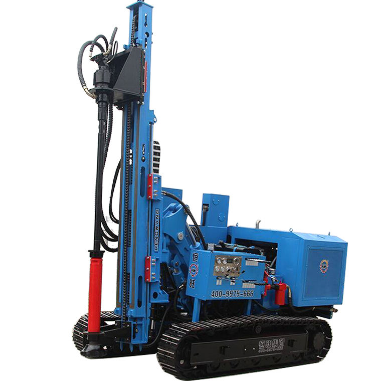 Solar ramming piling pile driver machine use in solar farm