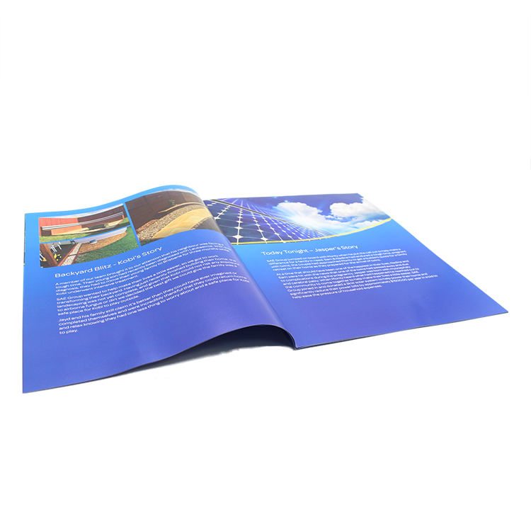 New Design Low MOQ Custom A4A5A6 paper brochure catalogs company saddle Stitching brochure printing