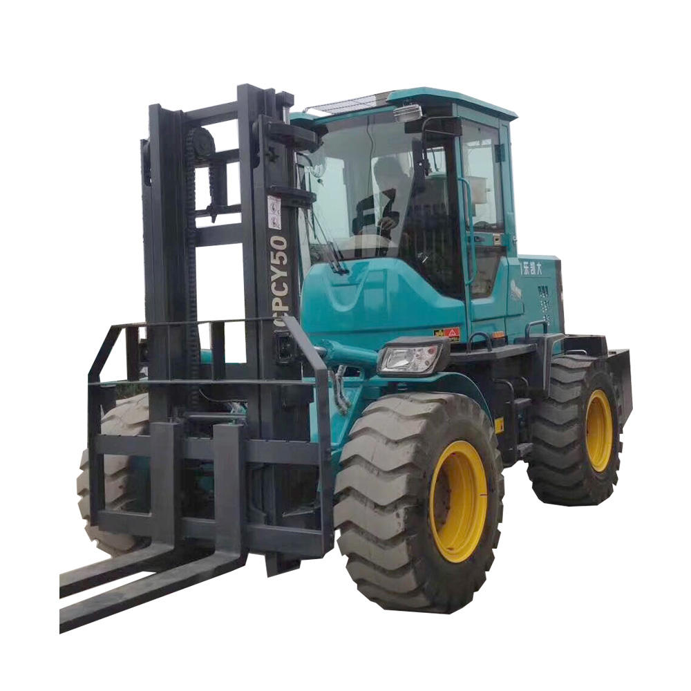 5 tons lift height 4500mm cross-country vehicle and rough terrain forklift truck with diesel engine