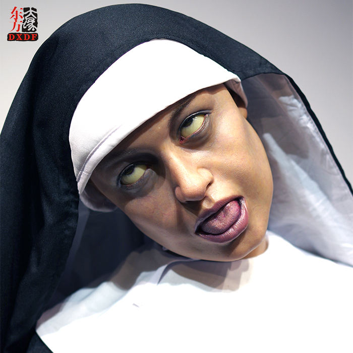Ghost Wax Museum Super Realistic Nun Wax Statue