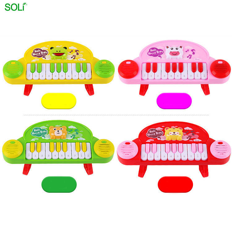 Hot Sale Childhood Electric Cartoon Musical For Girl Children Electronic B O Piano Drum Toy