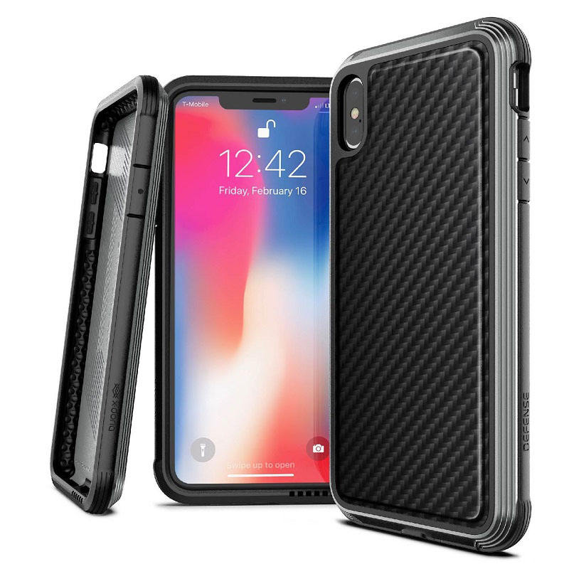 X-Doria Defense Lux Phone Case For iPhone X XR XS Max Military Grade Drop Tested Aluminum Cover Case For iPhone XR XS Max ZY-106