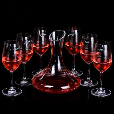 Glass Decanter Set 1800ML Hot Selling Hand Blown Glass Wine Decanter Set Crystal Decanter