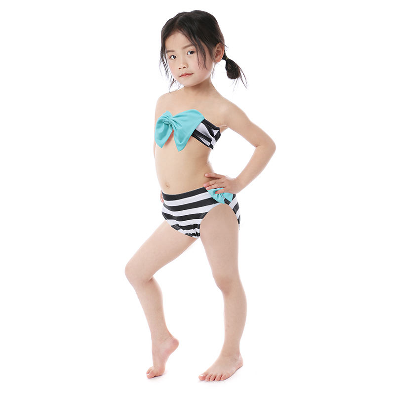 Baby Clothes 2 pcs Swimwear Girl Sexy Bikini Baby Outfits with bowknot