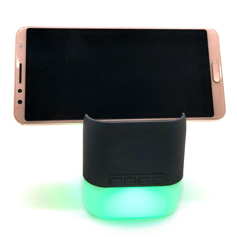 LED Bluetooth Speaker with smart phone-holder Case Muti-function Night Light driver wireless bluetooth speaker