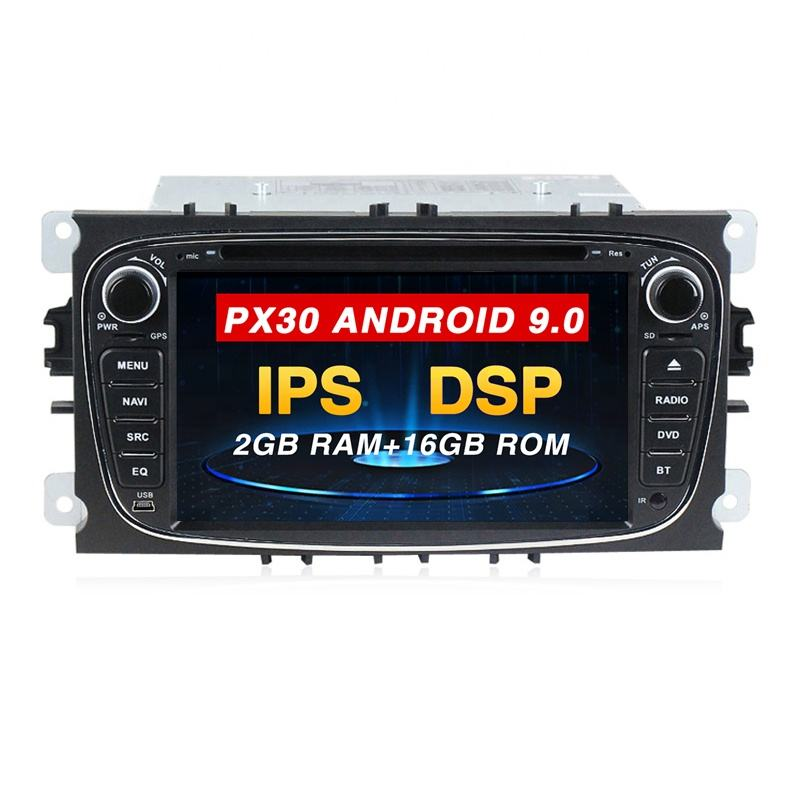 Mekede PX30 Android 9.0 IPS + DSP 4core Car <span class=keywords><strong>DVD</strong></span> Player RDS Radio GPS For Ford Mondeo S-MAX Connect Focus 2 2008-2010 RK3266 system