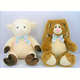 easter plush lamb plush rabbit