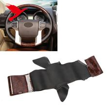 Leather Case Steering Wheel Covers Protector for Toyota 4Runner 10-19, Tacoma 11-18, Tundra 14-19, Prado FJ150 10-17