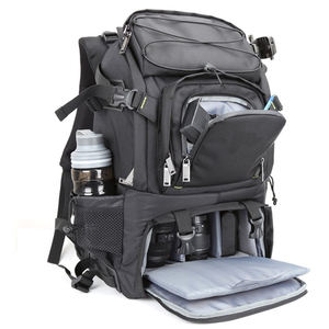Large Capacity Laptop Travel Daypack Bag Waterproof DSLR Camera Backpack With Rain Cover
