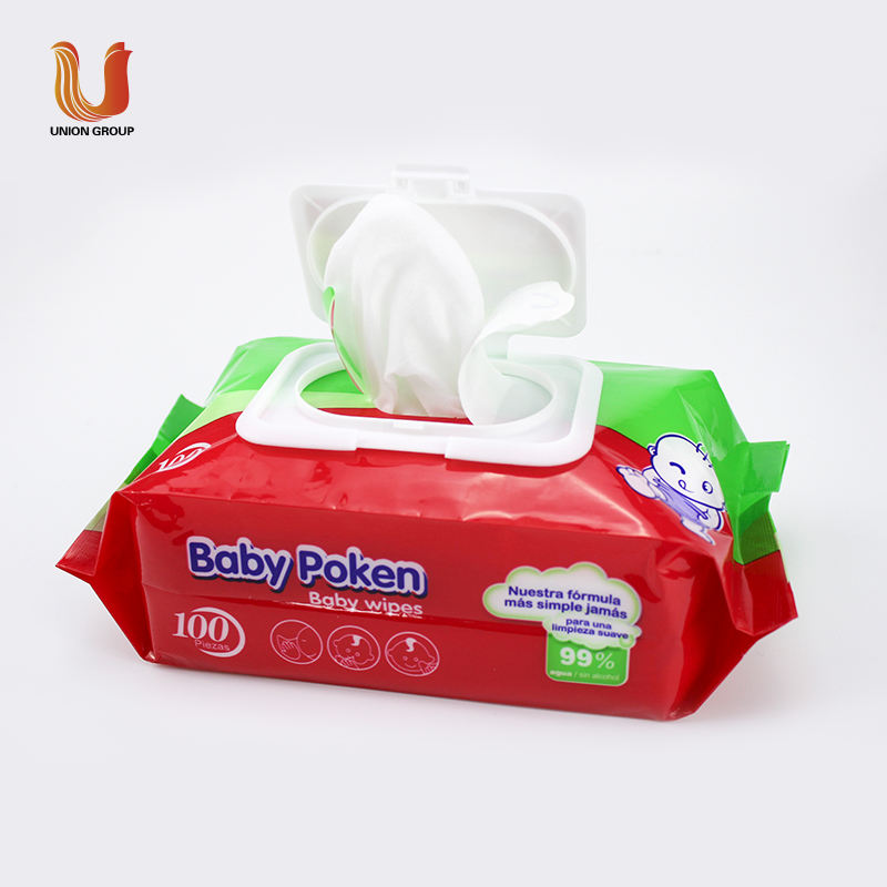 Hot sale Water natural care OEM baby wipes organic bamboo baby portable custom wet wipe