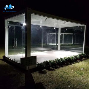 ready made beautiful customized sea side container glass house