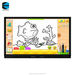 EKAA 75 inch interactive touch screen digital signage lcd digitgal smart board for education