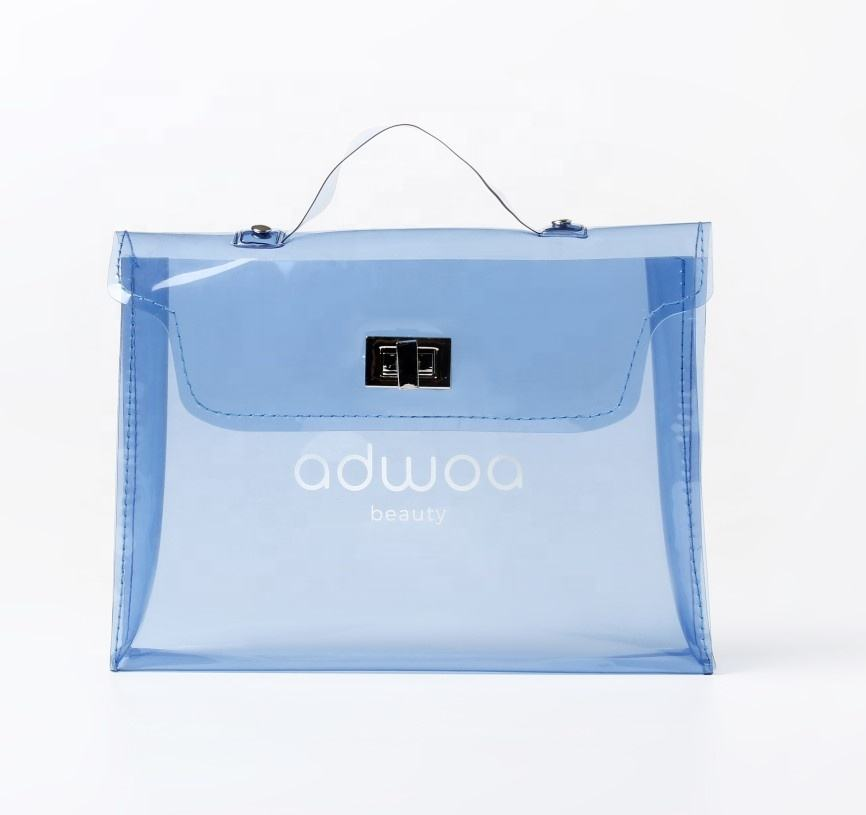 New hot selling fashion design clear pvc bag cosmetic use new cosmetic package bag