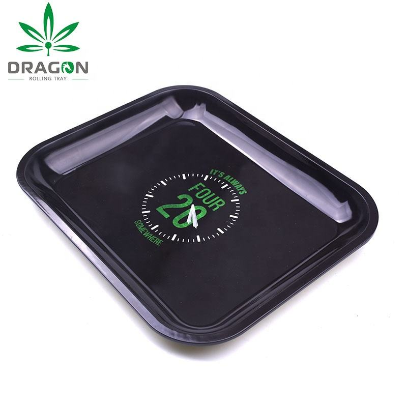 Supply large numbers custom different size metal rectangle rolling tray
