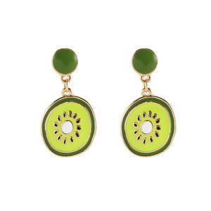 Girl Cute Fruit Earrings Summer Jewelry Clip On Earrings Non Pierced Women Charm Kiwi Earring Without Piercing