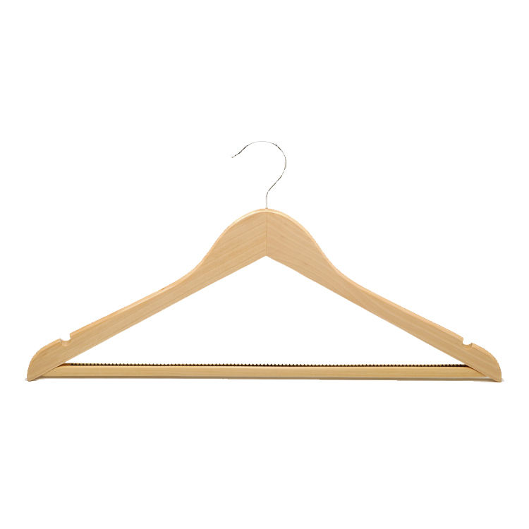 High quality cheap wood hanger for clothes hotel suit coat hangers