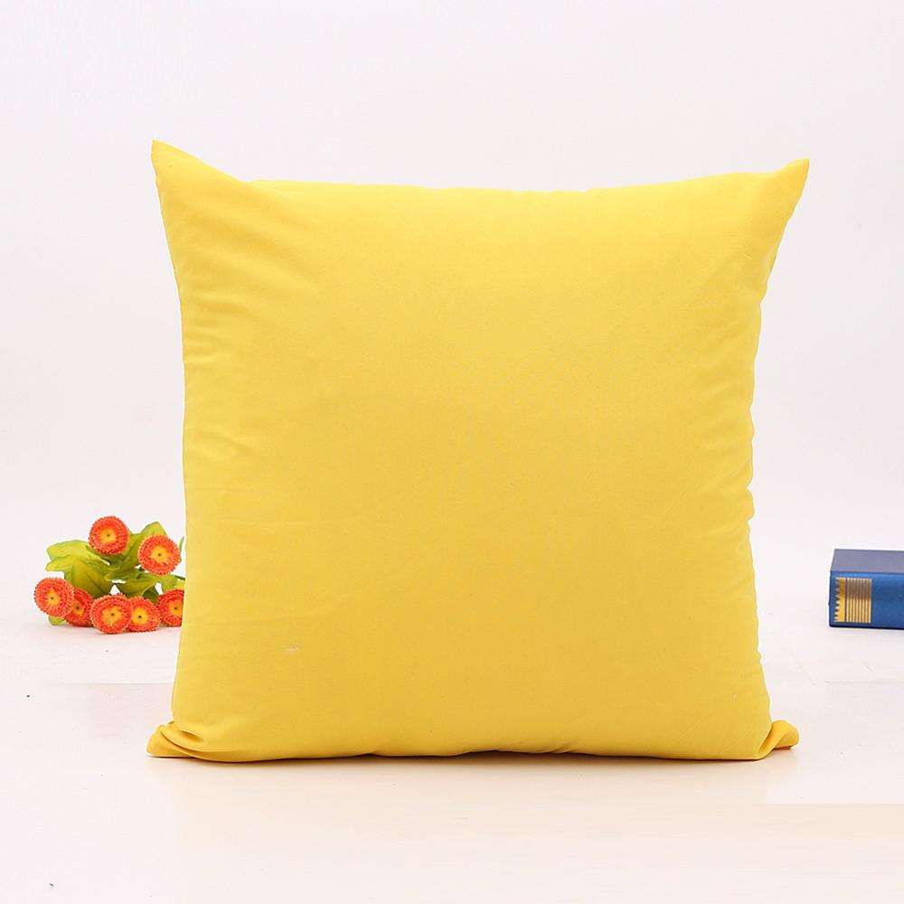 wholesale microfiber polyester plain blank solid color square decorative cheapest throw pillow case cover with zipper