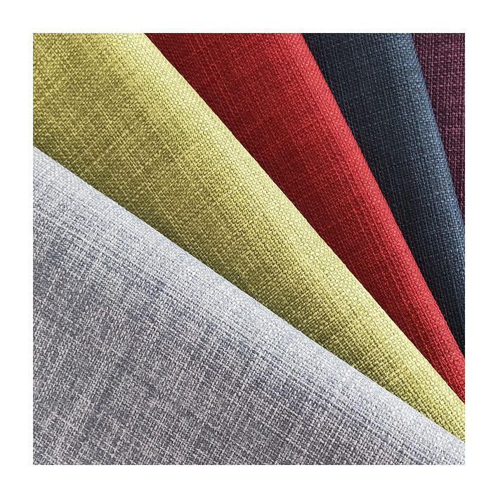 100 percent polyester faux linen upholstery waterproof fabric for furniture