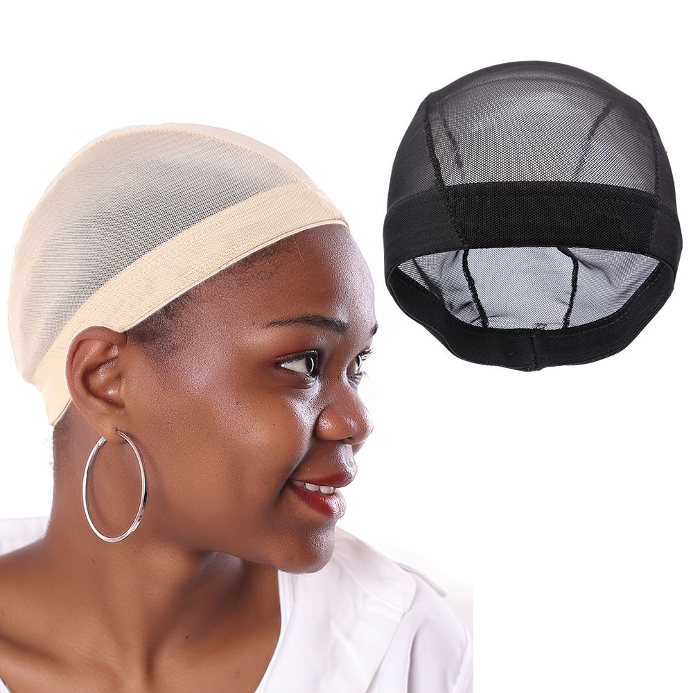AliLeader Hair Net Wig S M L Size Spandex Elastic Mesh Dome Wig Caps Materials For Making Wigs