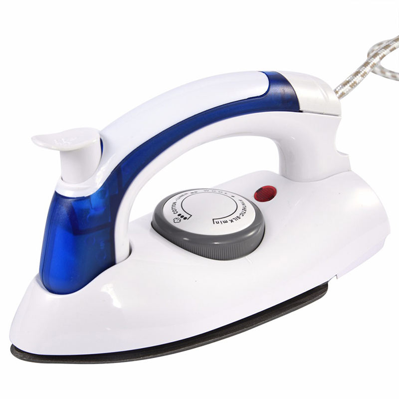 Fangjuu Mini Portable Foldable Electric Steam Iron For Clothes With 3 Gears Baseplate Handheld Flatiron