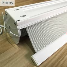 Customized size low moq quick delivery blackout coating motorized roller electric blinds/ motorized blind