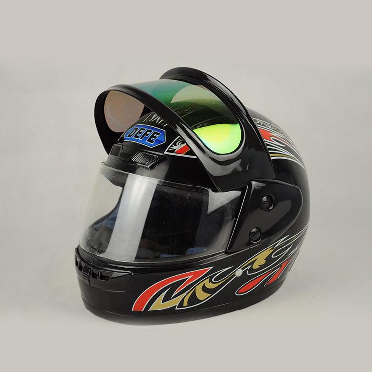 JIEKAI nuevo casco de la motocicleta Vintage Cafe Racer helicóptero Visor Retro casco Moto motocicleta Moto casco para motocicleta