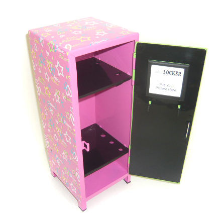 Creative Metal Toy Small Mini Locker for Cosmetic cabinet