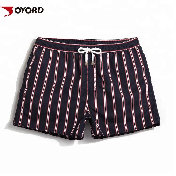 Personalizado sublimación impreso elástico trajes de baño simple de calzoncillos para hombres