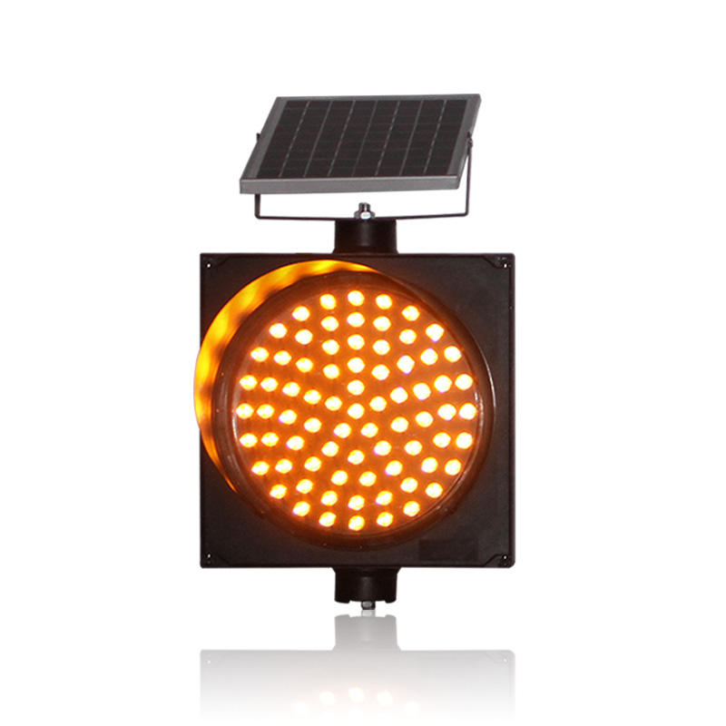 300mm yellow flashing solar powered LED warning solar traffic light