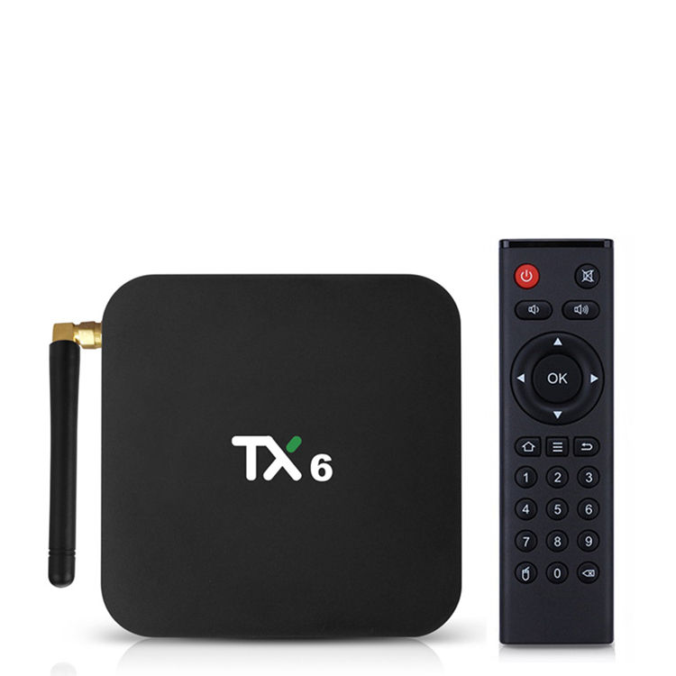 2019 Nuova scatola TX6 H6 CPU OTT TV Box Android 9.0 OS 4 GB 32 GB 2.4G + 5G (AC2X2) supporto 4 K 1080 P HD BOX IPTV