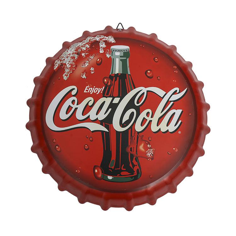 金属広告印刷装飾ブリキビッグビールボトルキャップのため販売