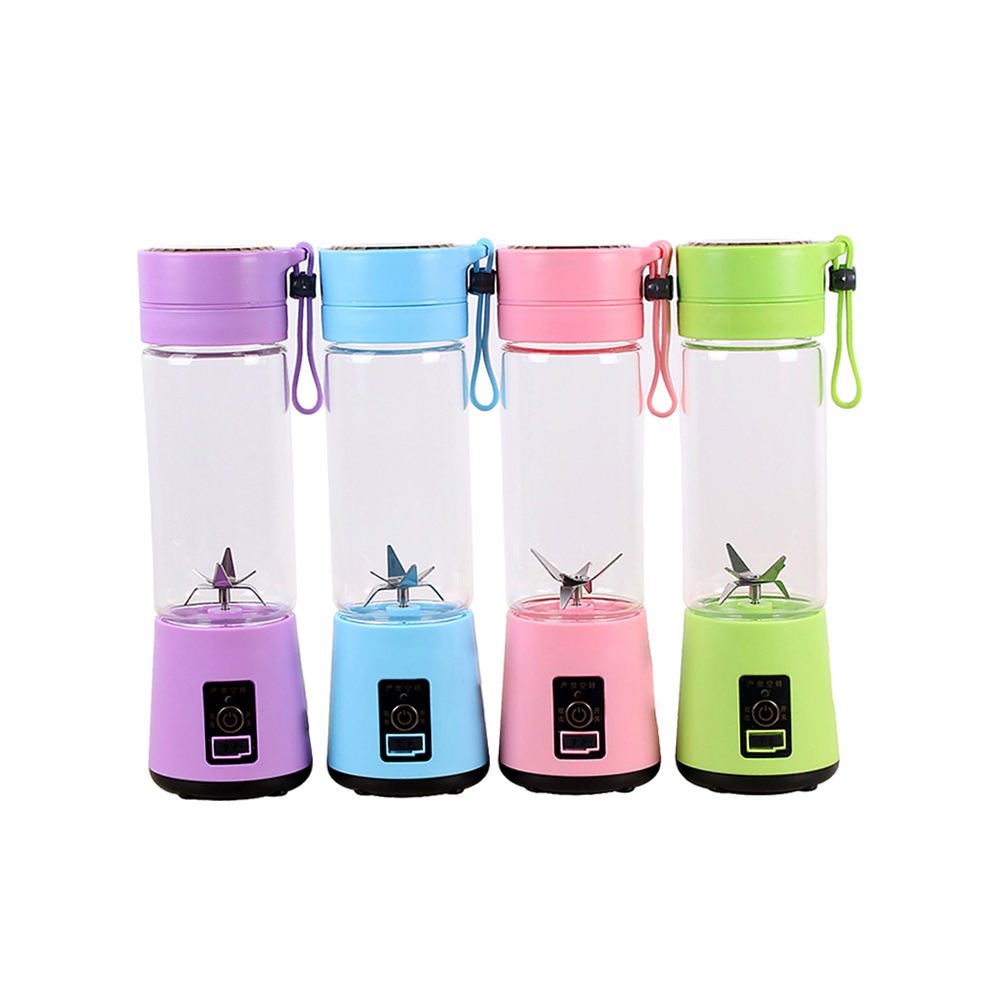 SK3S 380ml 40W Food Grade Material Rechargeable 6 Blade Portable Mini Juicer Wireless USB Electric Smoothie Fruit Blender