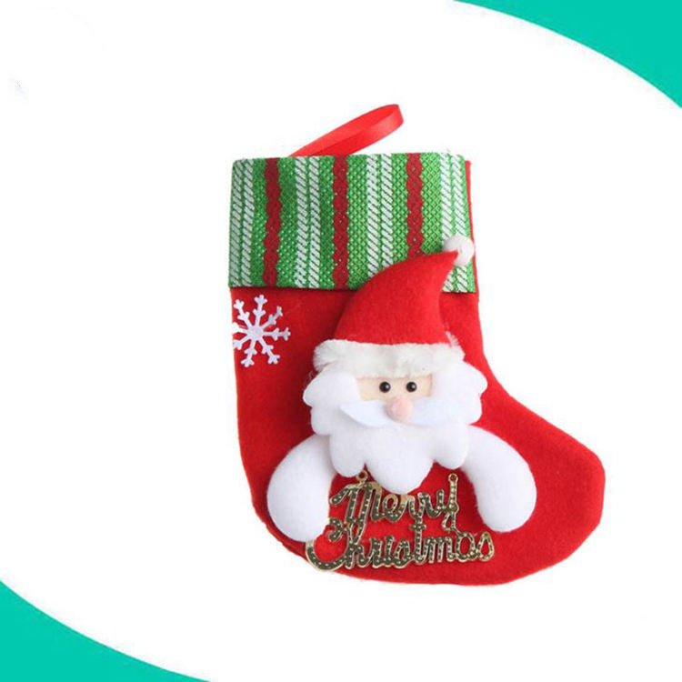 Various animal head christmas stocking