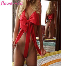 Big red bow lingerie set women night bedroom ladies adult teddy sexy lingerie