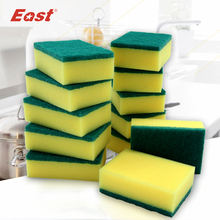 12 pcs/lot Thicken Cleaning Magic Sponge Dish perforated Cleaning Cloth Scouring Pads For printed kitchen cleaning cloth