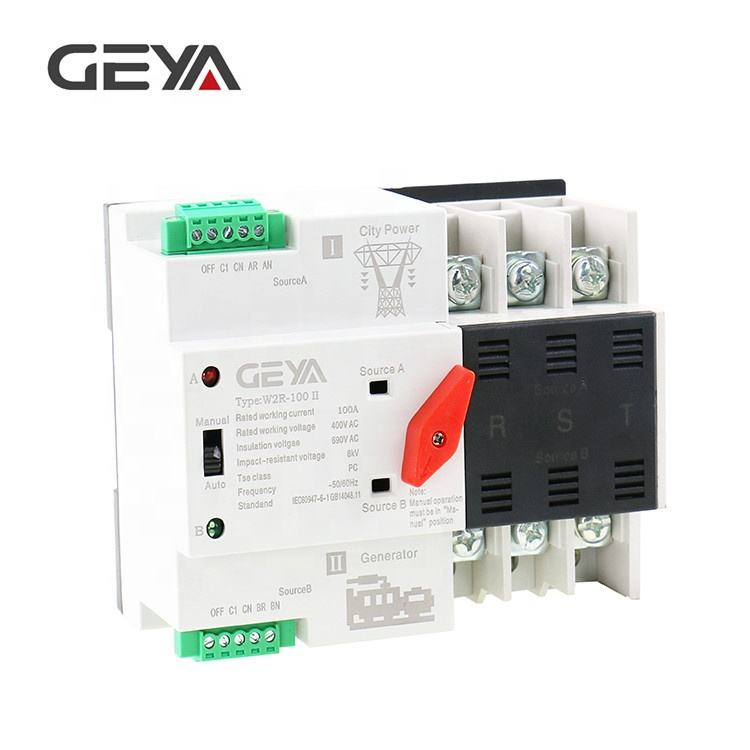 GEYA 3 Phase Automatic Transfer Switch ATS 63 Amp AC Changeover Switches Automatic Power Switch
