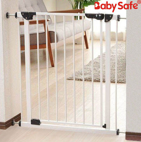 Babysafe metal double locking lift up baby safety barrier baby gate