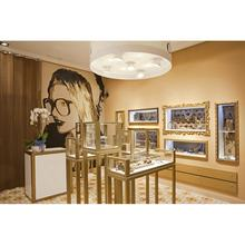 Luxury jewelry shop design diamond display showcase gold display counter for sale