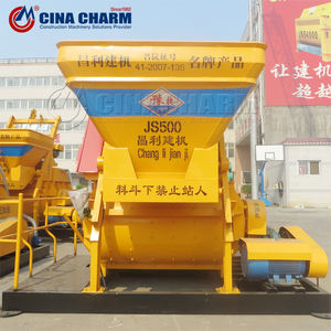 JS500 0.5m3 twin shaft concrete mixer