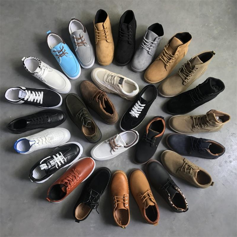 MH571 leather shoes China Manufacturer Sneaker Chaussures canvas casual Sport bulk stock shoes used shoes for men