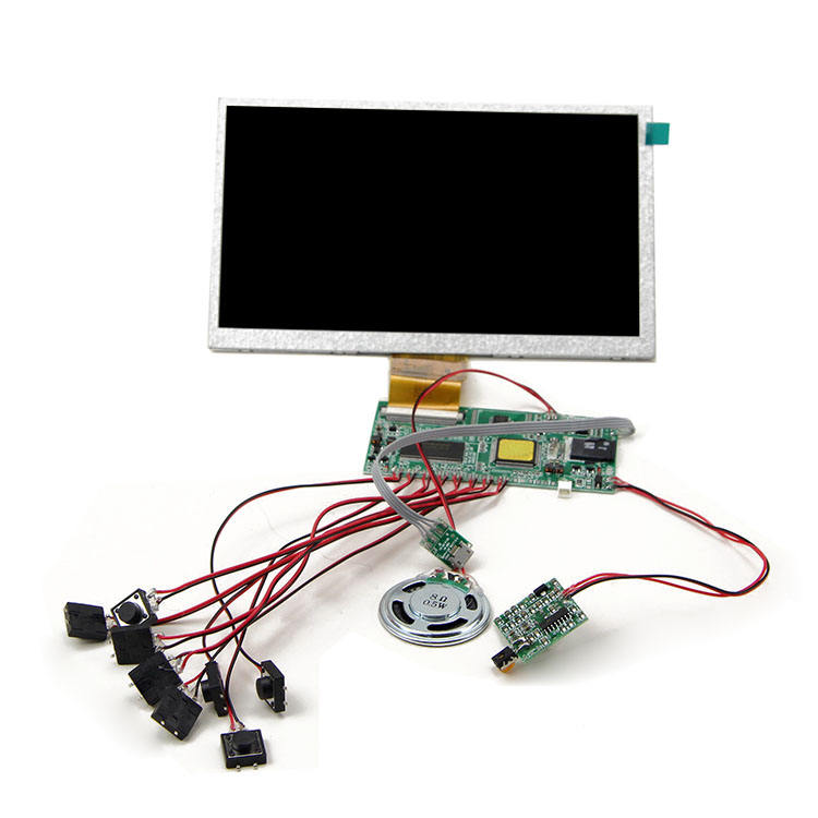 "2.4"",4.3"",5"",7""10.1"" tft lcd screen video player module for greeting card and brochure"
