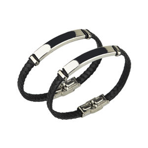 Custom Wholesale High Quality Mens Leather Wristband/Leather Bracelet