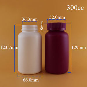 Food Grade ISO 33 Years Manufacturer 10cc 50cc 100cc 150cc 250cc 300cc Empty PET PE HDPE Plastic White Opaque Pill Bottle