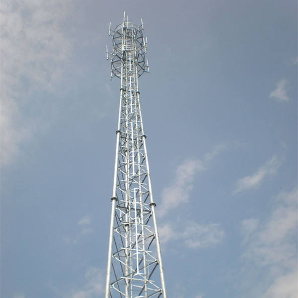 Hot sell 30m 3 legged self supporting Galvanized guy mast tower and mobile phone tower