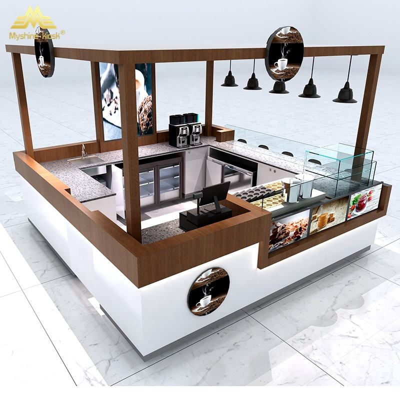 Myshine Vendita Calda Customized Shopping Mall Cibo Booth Fast Food Chiosco Disegno Fornitore