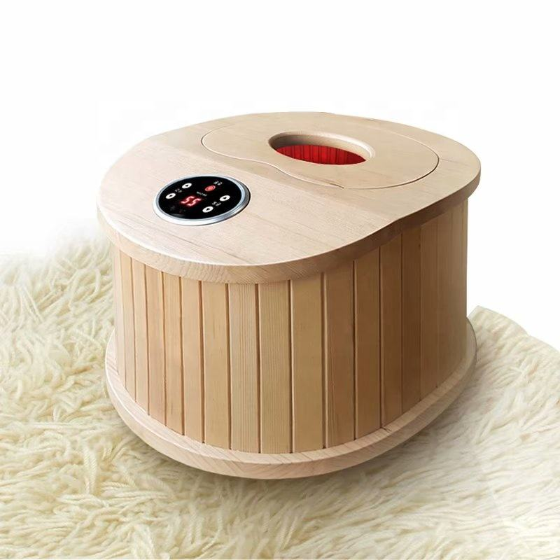 Draagbare Houten Ver <span class=keywords><strong>Infrarood</strong></span> Massage Stoom Droog Voet <span class=keywords><strong>Sauna</strong></span> Met Jade Steen