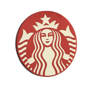 Custom logo soft pvc silicone table drink coffee coaster