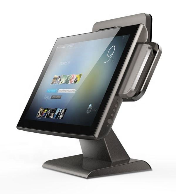 pos 15 inch LCD monitor 1024 * 768 /5 wire resistance touch screen monitor