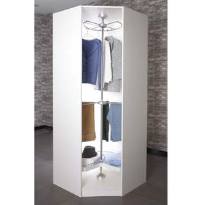 3 tiers revolving storage basket display hanger rack for wardrobe corner
